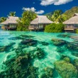 Beautiful above and underwater landscape of a tropical resort — Stock Photo #51904861