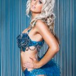 Sexy woman in blue bikini — Stock Photo #78985132