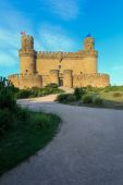 Beautiful medieval castle - Manzanares (Spain) — Stock Photo
