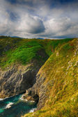 Beautiful scenery with the ocean shore in Asturias, Spain — Stock Photo