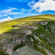 Winding road in Fagaras Mountains, Romania — Stock Photo #60609941