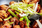Closeup of caramelized asian chicken wings with selective focus — Stock Photo