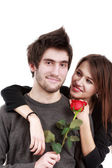 Picture of a young couple, valentine day concept — Stock Photo