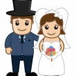 Newly Weds Couple - Vector Character Cartoon Illustration — Stock Vector #54174809