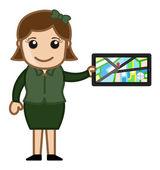 GPS Device - Navigator — Stock Vector