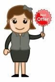 Best Offers - Cartoon Vector — Stock Vector