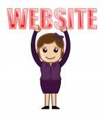 Website Text - Cartoon Vector — Stock Vector