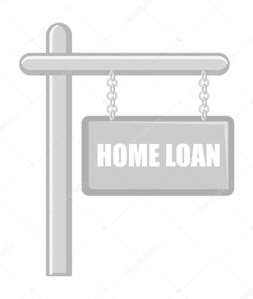 Home Loan Cartoons Comic Style Vintage Home Loan