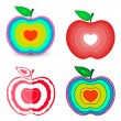 Love Hearts Apples Designs — Stock Vector #56837987