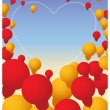 Valentine's Day Balloons Heart Banner — Stock Vector #56838963