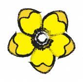 Yellow Flower Clipart — Stock Vector