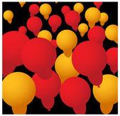 Abstrakte Ballons Hintergrund — Stockvektor
