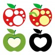 Heart and Circles Pattern Apples — Stock Vector #56951233