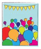 Abstract Party Balloons Background — Stockvektor