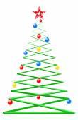 Modern Style Decorative Christmas Tree — Stock Vector
