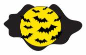 Flying Bats in the Night — Vector de stock
