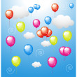 Colored Balloons with Clouds — Stock Vector #57021377