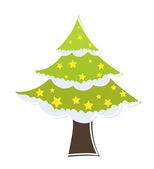 Decorative Stars Christmas Tree — Stock Vector