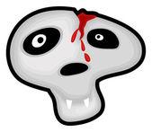 Broken Head Scary Halloween Skull — Stock Vector