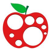 Holes in Apple — Vector de stock