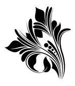 Calligraphic Floral Design — Vector de stock