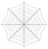 Spider Web Vector Art Design — Stockvector