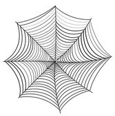 Retro Spider Web Vector — Vetorial Stock