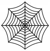 Retro Spider Web Design Art — Vetorial Stock