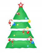 Decorative Christmas Tree Design — 图库矢量图片