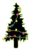 Abstract Tree Decorative Lights Design — Stock Vector