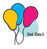 Birthday Balloons Background — Vector de stock