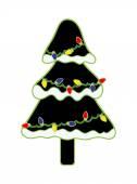 Kış Noel ağacı ışıkları — Stok Vektör