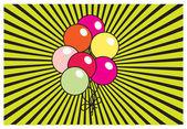 Retro Balloons Background — Stock Vector