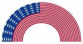 Rainbow USA Flag — Stock Vector