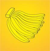 Kilka bananów na białym tle — Wektor stockowy