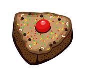 Cake Slice — Stock Vector