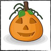 Spooky Halloween Jack-O-Lantern — Vettoriale Stock
