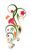 Colorful Decorative Floral — Vettoriale Stock