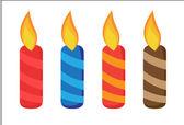 Birthday Candles — Cтоковый вектор