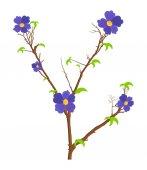 自然花树枝矢量 — 图库矢量图片