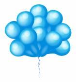 Bunch of Blue Balloons — Stock Vector