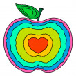 Colorful Apple Heart — Stock Vector #58239207