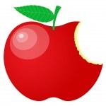 Eaten Red Apple Vector — Stock Vector #58239239