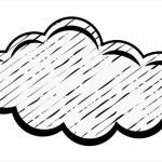 Retro Grunge Cloud — Stock Vector #58293275