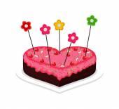 Valentine's Day Cake — Stock Vector