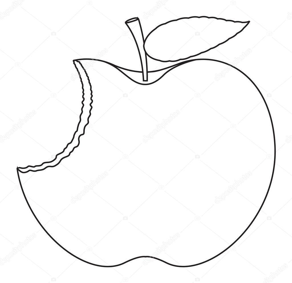 Dessin de pomme mang e image vectorielle baavli 58293017 - Dessin pomme apple ...