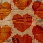 Grunge Hearts Pattern Cardboard Texture — Stock Photo #60116919