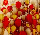 Christmas Balloons Cardboard Texture — Stock Photo