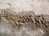 Damaged Cemented Wall — Stock Photo