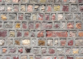 Cemented Rock Bricks Wall — Stock Photo